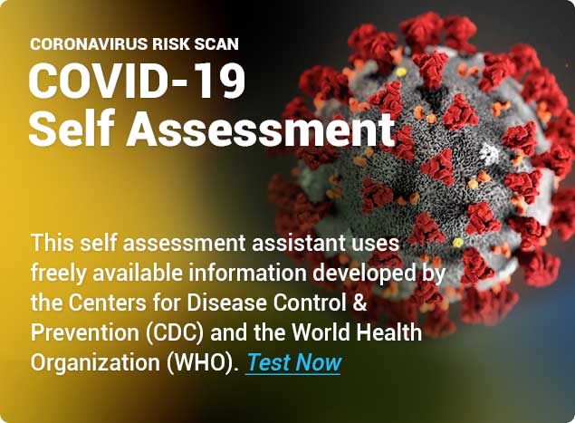 COVID-19 self assessment assistant developed following WHO and CDC available information
